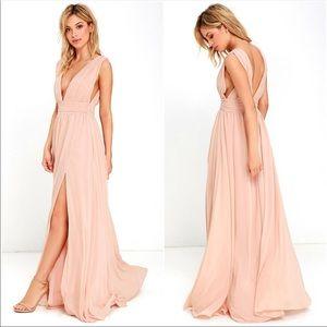 LuLu's Heavenly Hues Blush Pink Maxi Dress